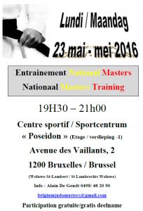 Entrainement Master Training 23 mai 2016 Woluwe